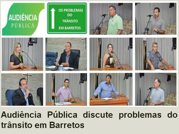 Audiência Pública discute problemas do trânsito em Barretos (Câmara Municipal de Barretos)