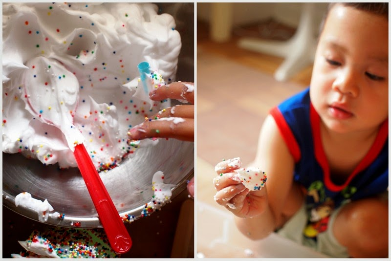 Invitation to Play with Shaving Cream