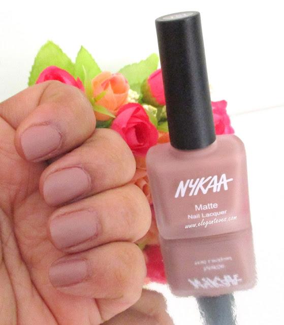Nykaa Chrome Nail Polish Review: Review/Swatches Nykaa Matte Nail Lacquer Nutcraker Dreams
