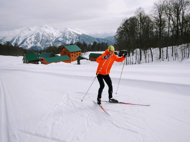 Беговые лыжи в Сочи, База Олимпия, Красная поляна в Сочи.