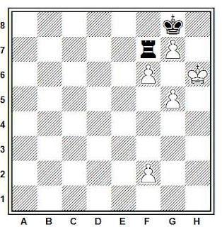 Estudio artístico de ajedrez compuesto por Zabinski (Varsovia, 1890)