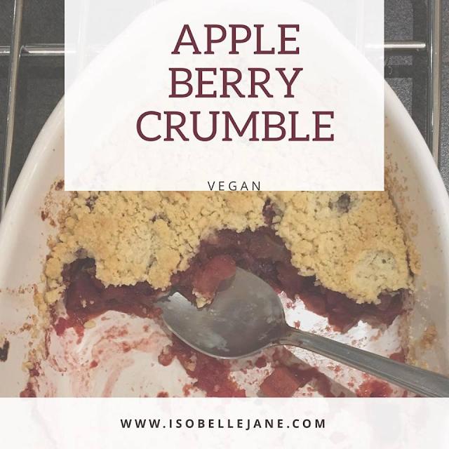 vegan, plant based, apple crumble, baking, vegan crumble, health, cooking, vegetarian, dessert