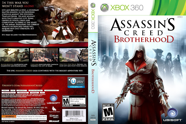 Capa xBox360 Assassin's Creed Brotherhood
