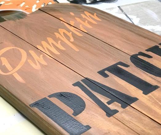 Standing Pallet Pumpkin Patch Sign