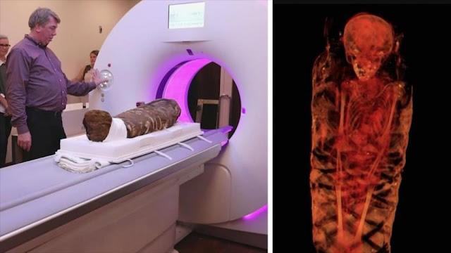 Escanean momia de niña egipcia de 1900 años de antigüedad