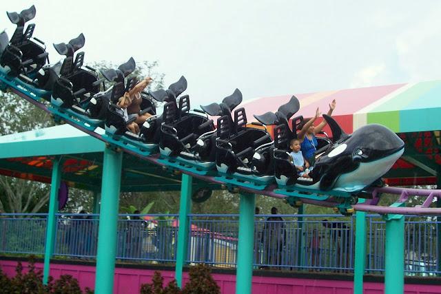 SeaWorld Orlando Parque Shamu Montanha Russa