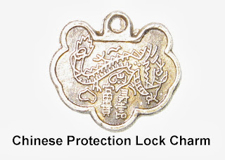 Lock Charm, Chinese Lock Charm, Protection lock charm, Chinese Protection Lock charm, Feng Shui lock charm