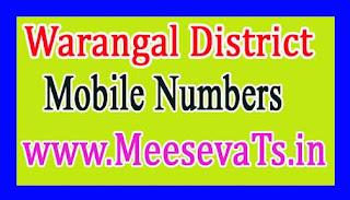 Jangaon Mandal MPTC Mobile Numbers List Wrangal District in Telangana State