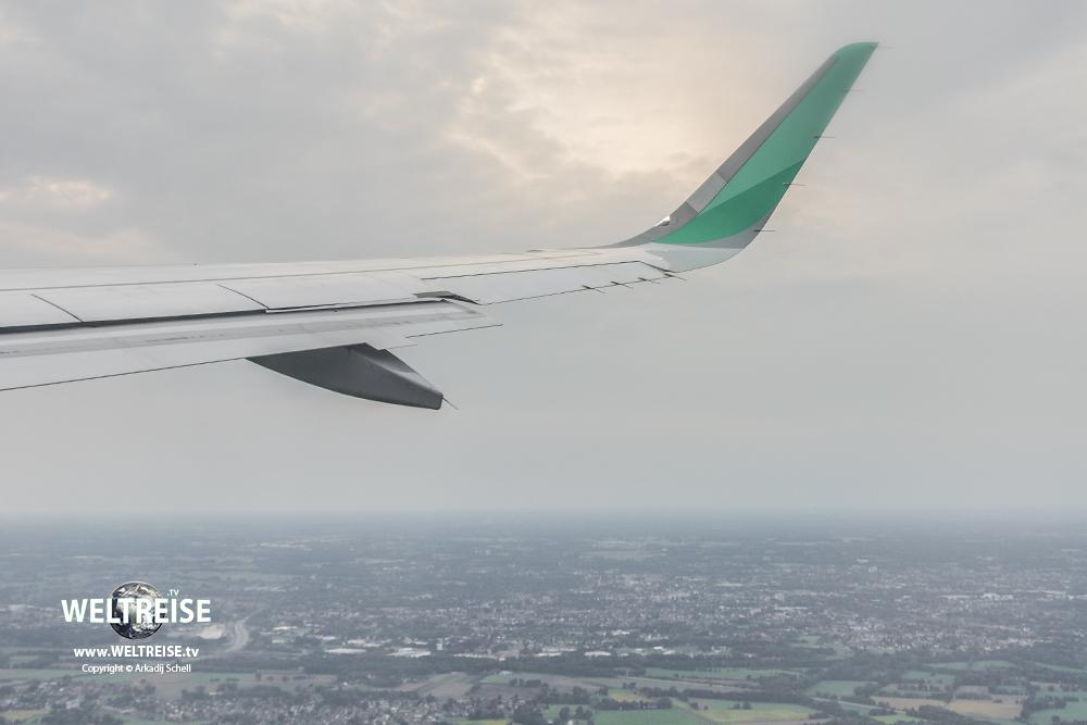 Flight above Bremen, Germany to Mallorca Island in Spain, World travel of Arkadij Schell