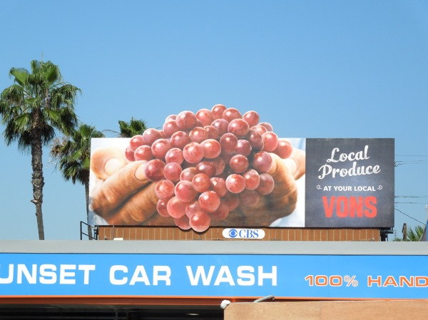 Vons grapes extension billboard