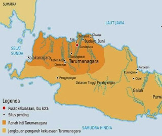 wilayah kekuasaan kerajaan tarumanegara
