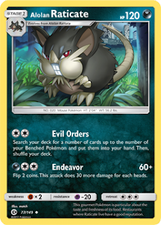 Alolan Raticate Sun and Moon Pokemon Card