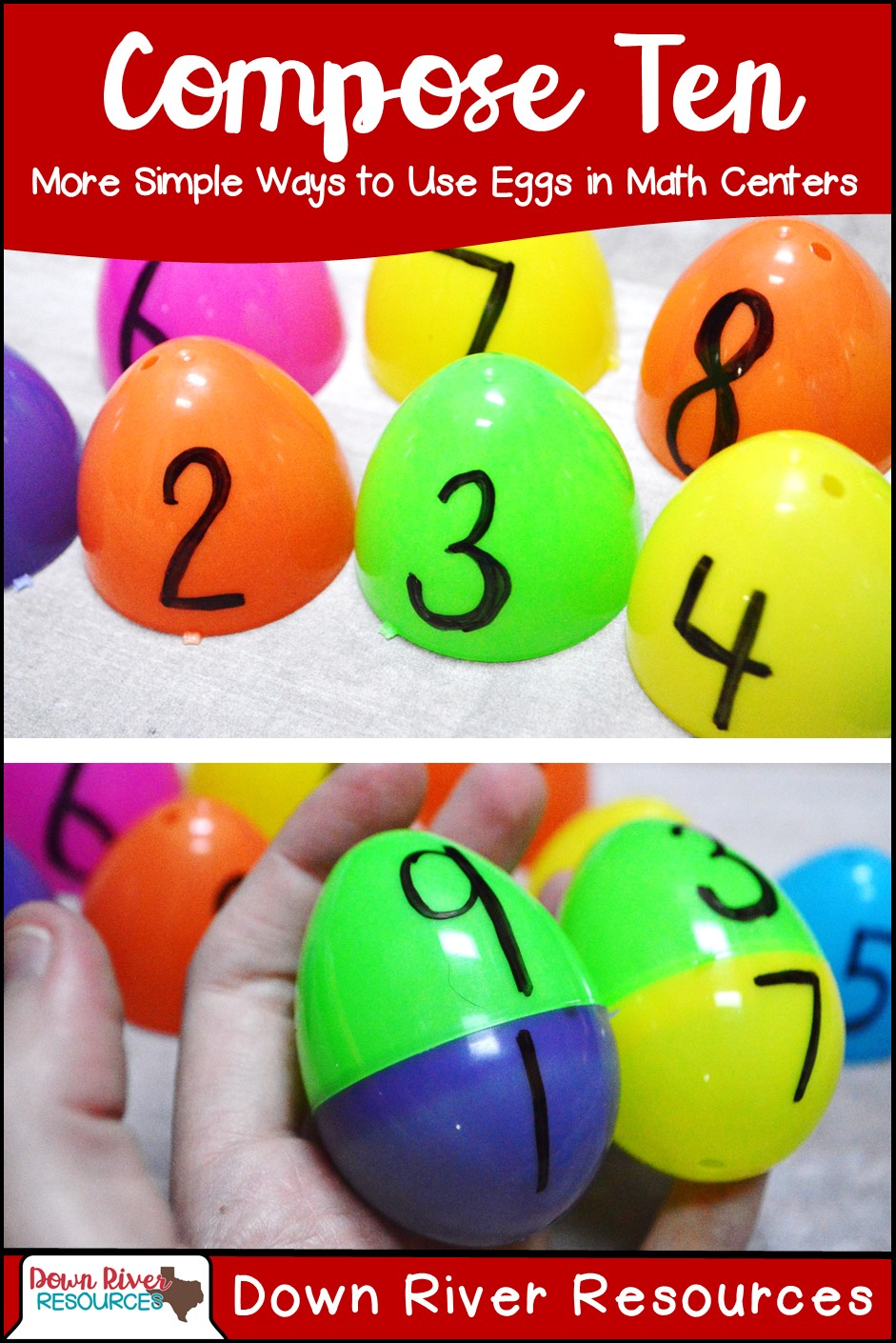 how to create the best math centers using plastic eggs down