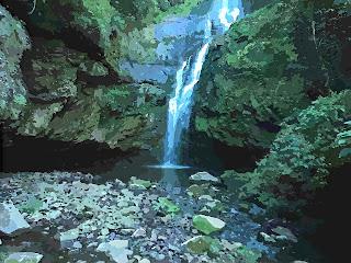 Cachoeira Remanso, no Parque das 8 Cachoeiras, em São Francisco de Paula