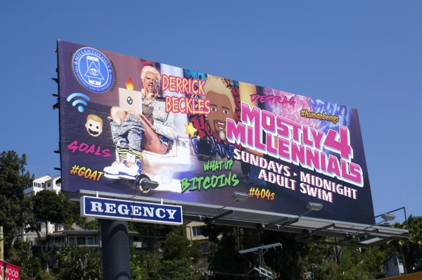 Mostly 4 Millennials series premiere billboard
