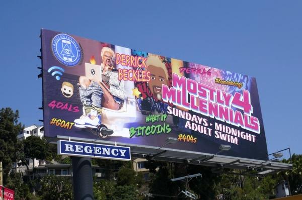 Mostly 4 Millennials series premiere billboard