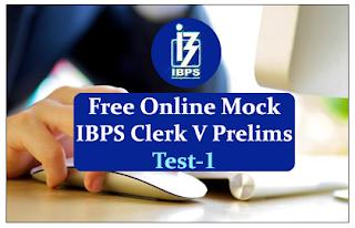 Free Online Mock Test for IBPS Clerk 2015 Prelims Exam- Test-1