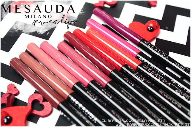 makeup review  4ver lips , matite labbra, automatica, mesauda