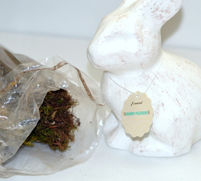 supplies needed for a moss covered bunny rabbit