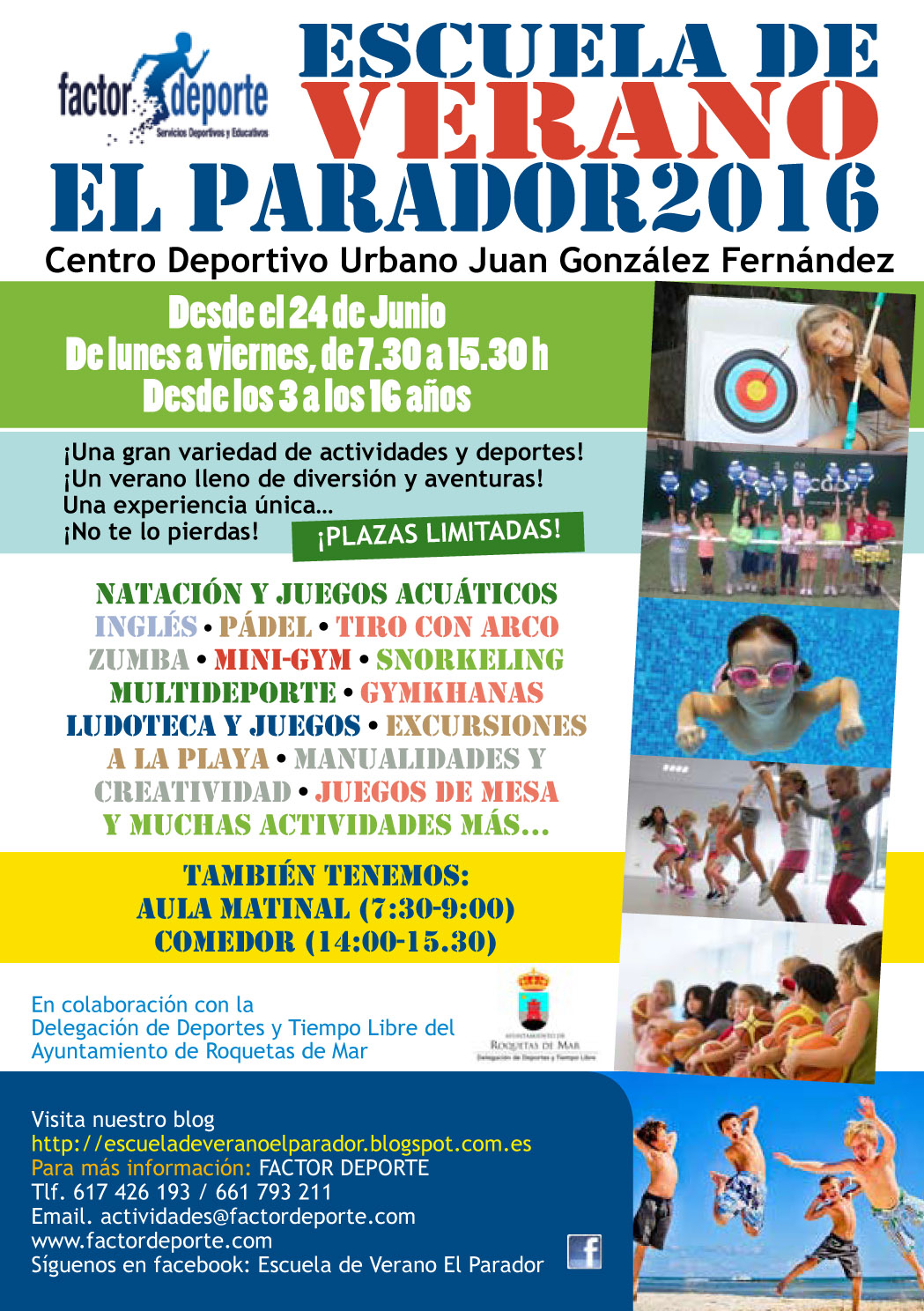 Escuela de verano el parador 2016 for Oficina 3058 cajamar