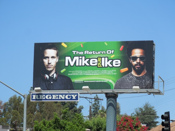 Return of Mike and Ike candy movie billboard
