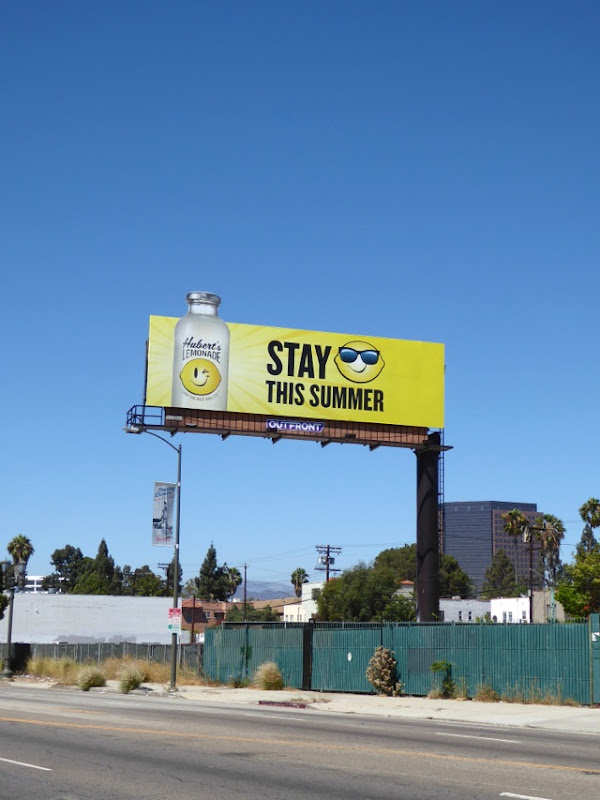 Hubert's Lemonade special extension billboard