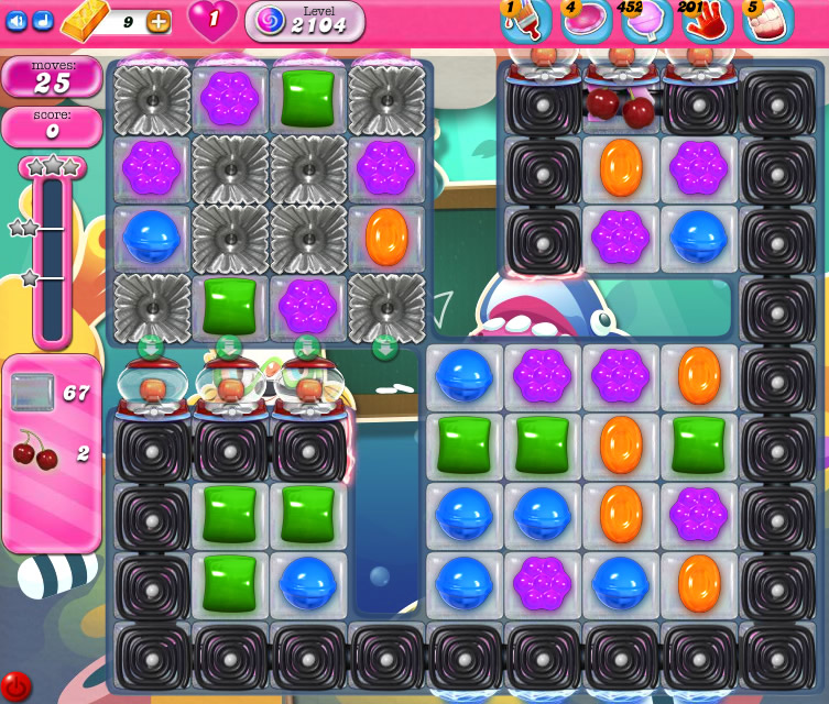 Candy Crush Saga level 2104