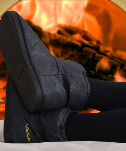 camping gear for winter camping - heated slippers