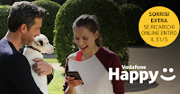 Logo Vodafone Happy: accumula ''sorrisi'' e richiedi premi sicuri