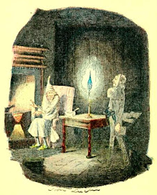 Marley's Ghost by John Leech from A Christmas Carol  by Charles Dickens (1920 reprint of original 1843 edition)