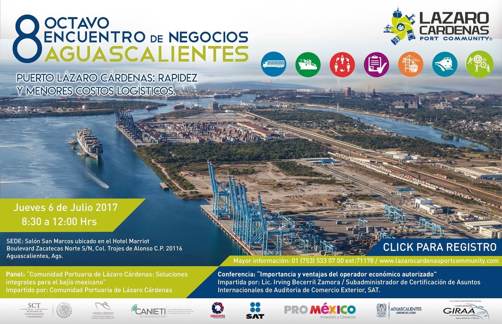 Puerto Lázaro Cárdenas Realizará 8 Encuentro
