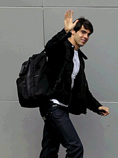 Ricardo Kaka leaving the Santiago Bernabeu