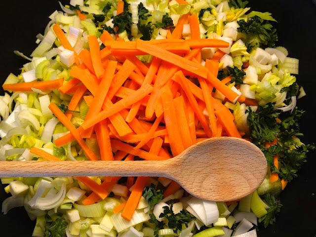 Receta de Estofado de verduras económica, alimenticia y sencilla