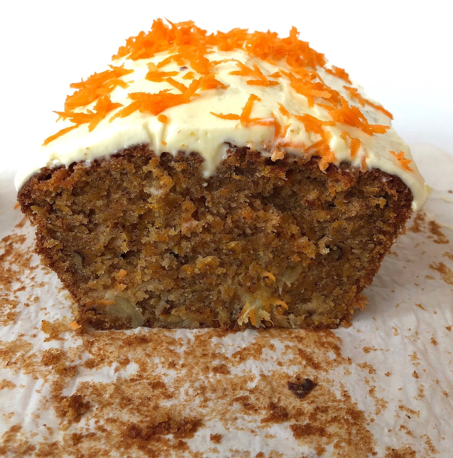 Moist Carrot Cake with walnuts and pineapple bits
