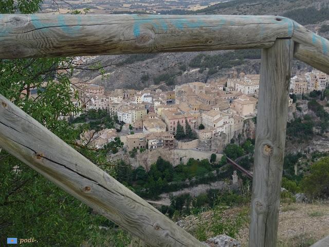 La Ciudad Alta desde el cerro del Socorro, Cuenca
