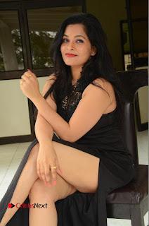 Actress Revathi Chowdary  Pictures in Black Long Dress at Kakateeyudu Movie Press Meet  0103.JPG
