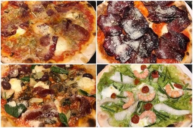 Pizzas en la Pizzería Padrino Cocina sobre masa de Gijón