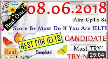 IELTS LISTENING PRACTICE TEST 2018 WITH ANSWERS | 08.06.2018