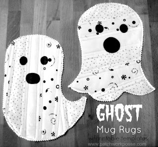 Needles-n-Pins Stitcheries: Ghost Mug Rugs Tutorial
