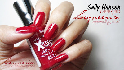 Lacqueerisa: Sally Hansen, Cherry Red