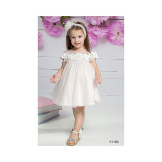 baptism clothes for girl in light pink color