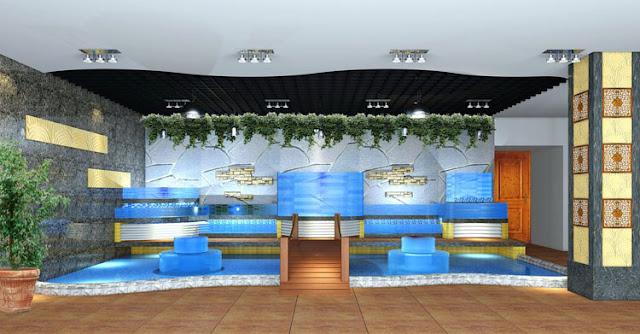 Tư vấn thiết kế mẫu hồ nuôi hải sản hình tháp 4 tầng ở An Giang