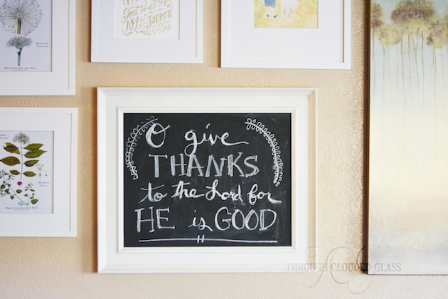 Thanksgiving Chalkboard Verses | Through Clouded Glass