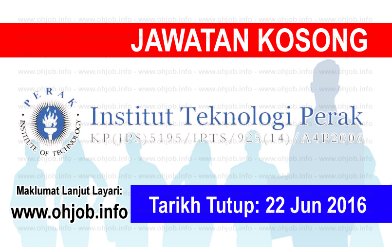 Jawatan Kerja Kosong Institut Teknologi Perak logo www.ohjob.info jun 2016