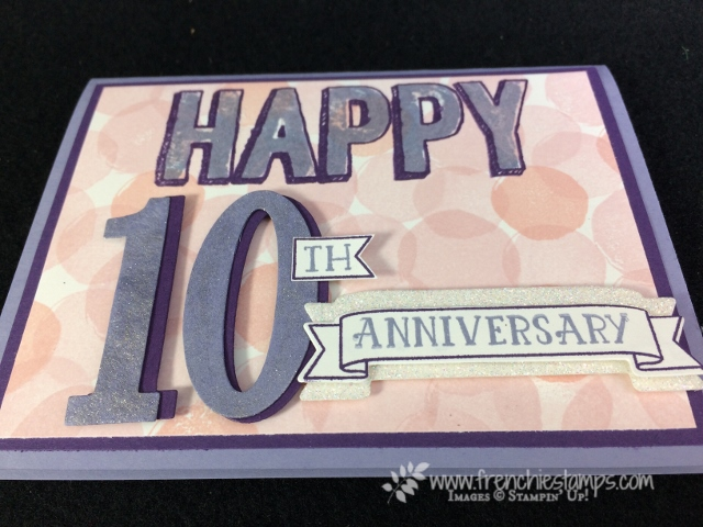 Happy Celebration, Number of Years, Large Number Framelits, Stampin'Up!, Frenchie Stamps,