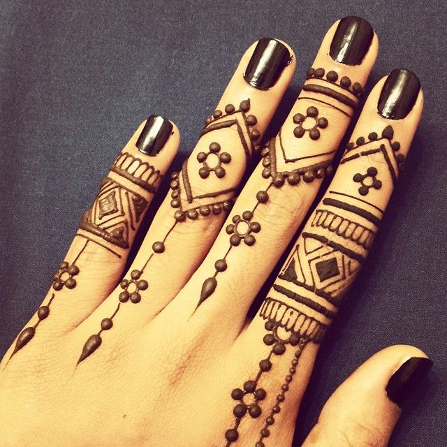 Best Simple Mehndi Design For Fingers 2016