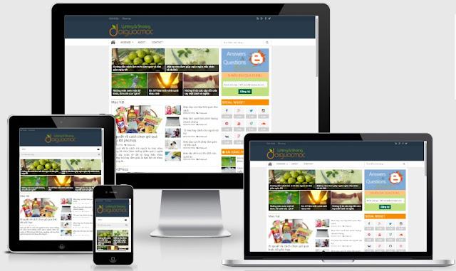 Chia sẻ mẫu template blogspot đẹp làm trang tin tức