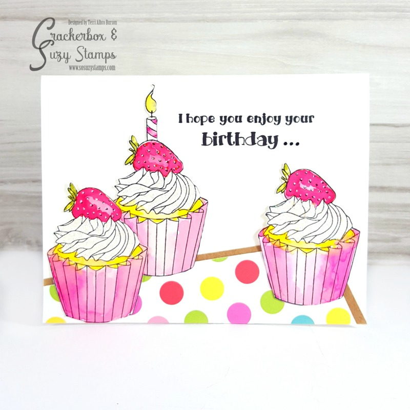 Birthday Cupcakes And Friendship Crackerbox Suzy Stamps