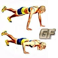 satu kaki variasi gerakan push up