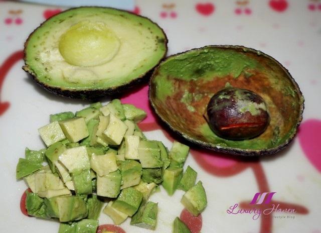 making avocado salad